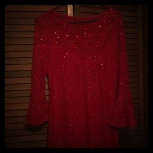 Red Ronni Nicole dress sz 10
